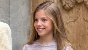 La infanta Sofia, durant la missa de resurrecció d'enguany