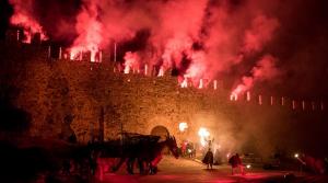 La llegenda de Sant Jordi a la Setmana Medieval de Montblanc.
