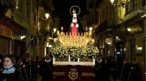 La pluja ha obligat a suspendre la processó de la Soledat de Tarragona.