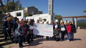 La protesta del personal del menjador escolar de Viladecavalls