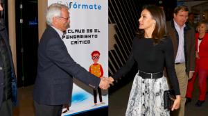 La reina Letícia a la presentació del projecte (In)fórmate
