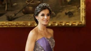 La reina Letizia en la cena de gala en honor al presidente de Perú