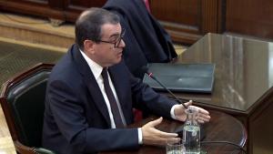 L'antic conseller d'Interior, Jordi Jané, durant la seva declaració al Tribunal Suprem