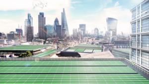 Las placas biosolares tienen el ambicioso plan de limpiar de contaminación el aire de Londres y generar vitaminas