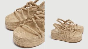 Las sandalias tienen un precio de 29,99 euros.