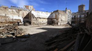L'enderrocament de la Casa del Poble d'ERC a Terrassa