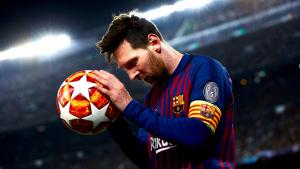 Leo Messi, durant el Barça-United.