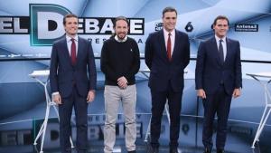 Los cuatro candidatos a la presidencia de España en el debate de Atresmedia