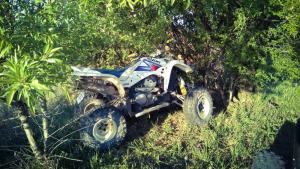 Los heridos habrían chocado con los quads que conducían
