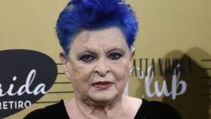 Lucía Bosé en su última aparición pública el 20 de octubre de 2016