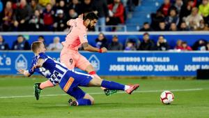 Luis Suárez, durant l'Alabès-Barça.