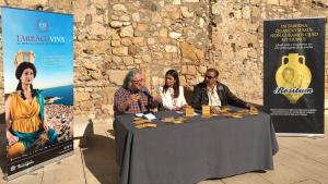 Magí Seritjol, Inma Rodríguez i Carlos Segarra a la presentació de Tàrraco a Taula