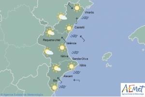 Mapa de símbols per al divendres 12 d'abril