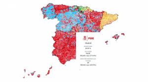 Mapa interactivo de los resultados de las elecciones generales 2019