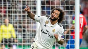 Marcelo, durant el partit entre el Madrid i el Viktoria Pilsen.