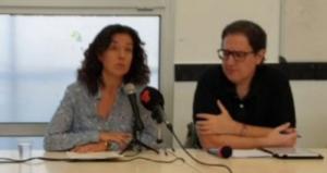 Maria Eugenia López i Miquel Benítez, membres de Podem a Terrassa