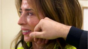 María Patiño no pudo reprimir las lágrimas