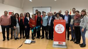 Membres de la candidatura del PSC de Valls de cara a les eleccions municipals.