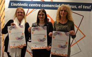 Montserra Caelles, Nerea Licoiu i Gemma Molné a la presentació de la nova edició de la Festa de la Primavera