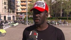 Muhammed Sanneh, l'aficionat del Girona insultat pel delegat de l'Espanyol.