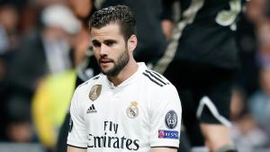Nacho es lamenta durant el Madrid-Ajax.