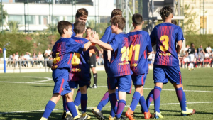 Nens de les categories inferiors del Barça.