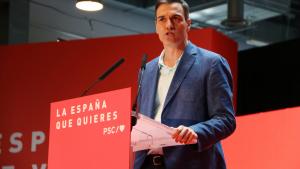Pedro Sánchez va afirmar durant un míting a Huelva que els catalans no volen la independència