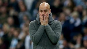 Pep Guardiola, durant el Manchester City-Tottenham.