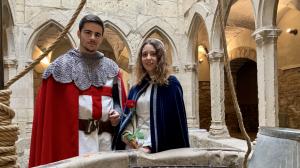 Ramon Solanes i Míriam Ortin encarnaran les figures de Sant Jordi i la princesa en la Setmana Medieval d'enguany