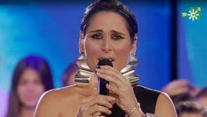 Rosa durante la actuación de la gala Unicef
