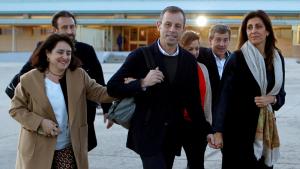 Sandro Rosell surt de la presó de Soto del Real.