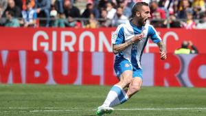 Sergi Darder celebra el seu primer gol contra el Girona.