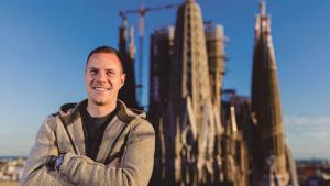 Ter Stegen, durant l'entrevista amb la Revista Barça