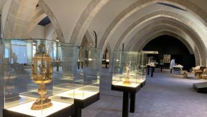 Tot està a punt per poder veure les peces excepcionals al Museu de Poblet.