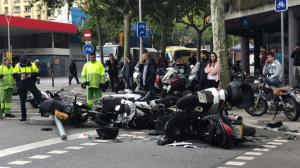 Un total de dotze motos s'han vist afectades