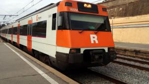 Un tren de Rodalies RENFE a Sabadell Sud