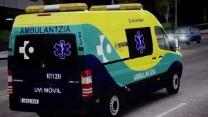 Una ambulancia en Vitoria