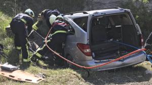 Una mujer ha muerto al quedar atrapada en su coche tras accidentarse en la A-1 en Álava