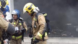 Una persona ha resultat ferida greu en un incendi a Girona