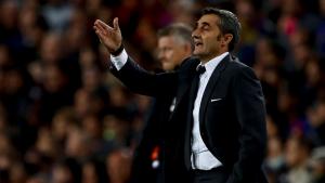 Valverde, durant el Barça-Manchester United.