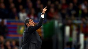 Valverde, durant el partit contra el Manchester United