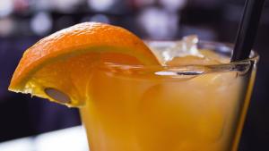 Zumo de naranja al coñac