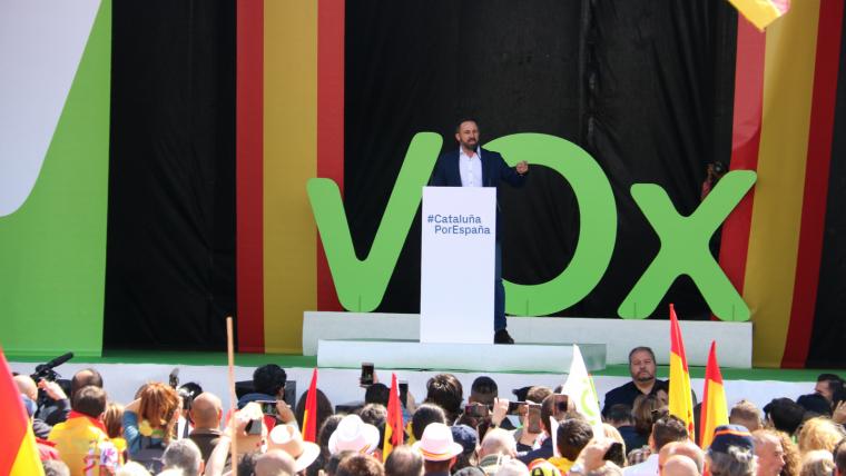 Abascal ha estat present a la manifestació que VOX ha organitzat a Barcelona