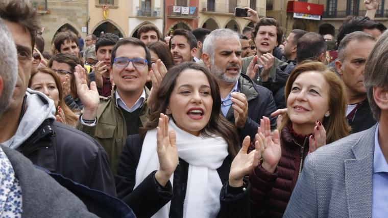 Arrimadas va visitar Vic el passat dijous, 18 d'abril