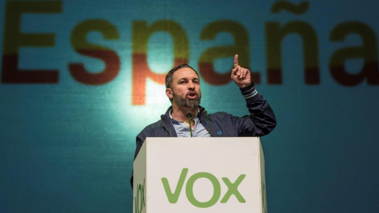 El líder de VOX, Santiago Abascal, vol tancar TV3