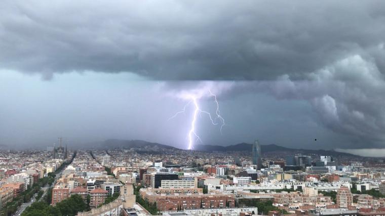 Llamp caigut a Barcelona
