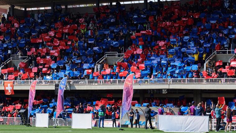 El Miniestadi, durant la presentació del Barça Academy World Cup.