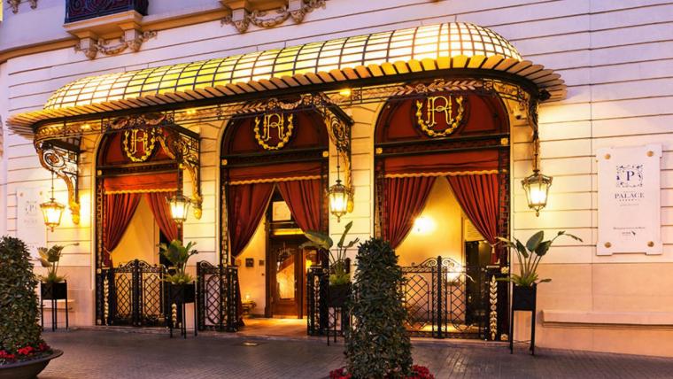 Entrada del Palace Hotel de Barcelona
