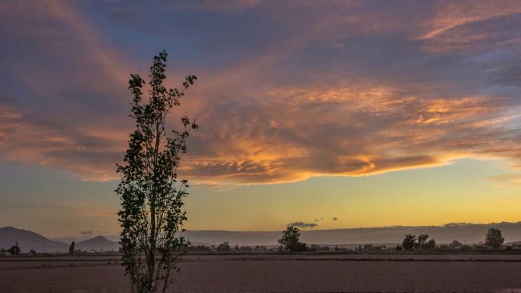 Posta de sol dimecres al Delta de l'Ebre