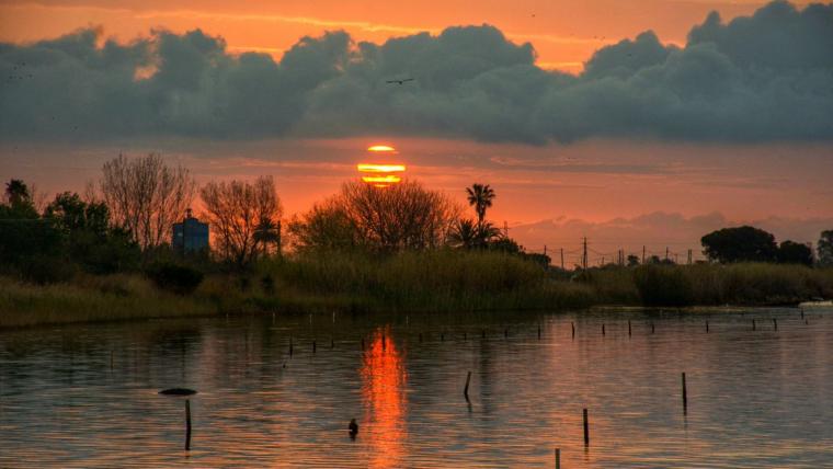 Sortida de sol al Delta de l'Ebre aquest divendres
